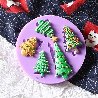 DY2DY Tree Shape Cake Molds For Candy Silicon Kids Birthday New Year's Thanksgiving Holiday Novelty