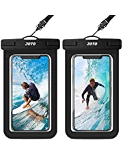 """JOTO Universal Waterproof Pouch, IPX8 Waterproof Cellphone Dry Bag Underwater Case for iPhone 12 Pro Max 11 Pro Max Xs Max XR X 8 7 6S, Galaxy S20 Ultra S10 Note10 9 up to 7"""" -2 Pack, Black"""