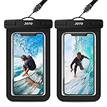 JOTO Common Waterproof Pouch, IPX8 Waterproof Cellphone Dry Bag Underwater Case for iPhone 12 Professional Max 11 Professional Max Xs Max XR X 8 7 6S, Galaxy S20 Extremely S10 Note10 9 as much as 6.9″ -2 Pack, Black