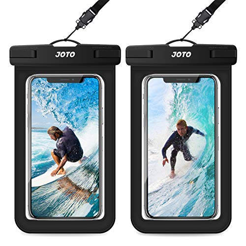JOTO Universal Waterproof Pouch, IPX8 Waterproof Cellphone Dry Bag Underwater Case for iPhone Xs Max XR X 8 7 6S Plus, Galaxy S10 Plus S10e S9 S8 +/Note 9 8, Pixel 3a 3 2 XL up to 6.5