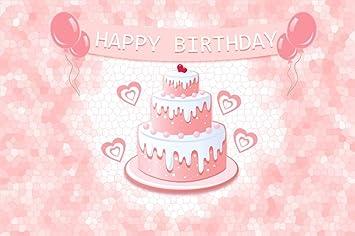 Cool Amazon Com Baocicco 5X3Ft Happy Birthday Backdrop Pink Birthday Funny Birthday Cards Online Elaedamsfinfo