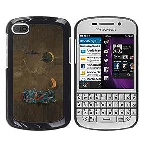 Be Good Phone Accessory // Dura Cáscara cubierta Protectora Caso Carcasa Funda de Protección para BlackBerry Q10 // Abstract Painting