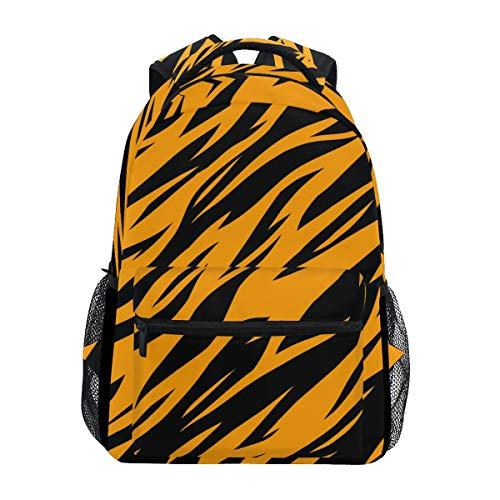 U LIFE Backpack School Bags Laptop Casual Bag for Boys Girls Kids Men Women Tiger Stripe