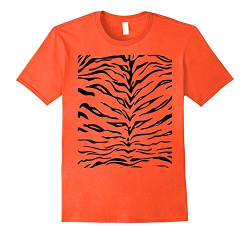 Mens Tiger Print Shirt, Simple Halloween Costume Idea Gift Medium (Simple Costume Ideas)
