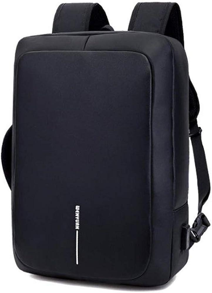 HDHUA Laptop Bag Couples Breathable PU Leather Shoulder Bag Multi-Purpose Travel Bag Man Bag Solid Color