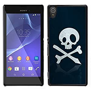 Design for Girls Plastic Cover Case FOR Sony Xperia T3 Skull Pirate Sign Emblem Art Bones Slogan OBBA