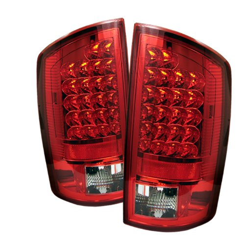 Spyder Dodge Ram 1500 07-08 / Ram 2500 06-09 / Ram 3500 06-09 LED Tail Lights - Red Clear (2007 Tail 2500 Ram Lights Dodge)