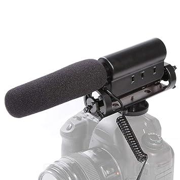FeiyanfyQ Pro - Micrófono de Condensador para cámara réflex Canon ...