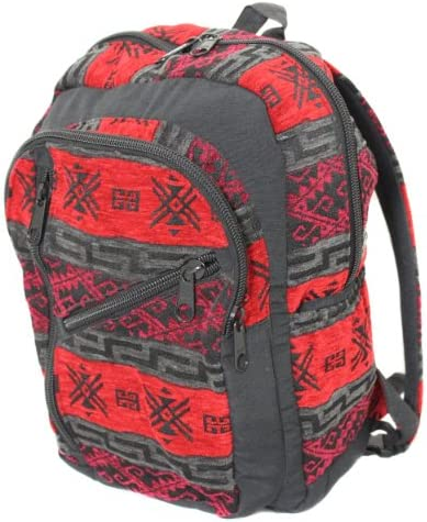 Andean Voyager Salasaca Tapestry Native American Travel Backpack Ecuador