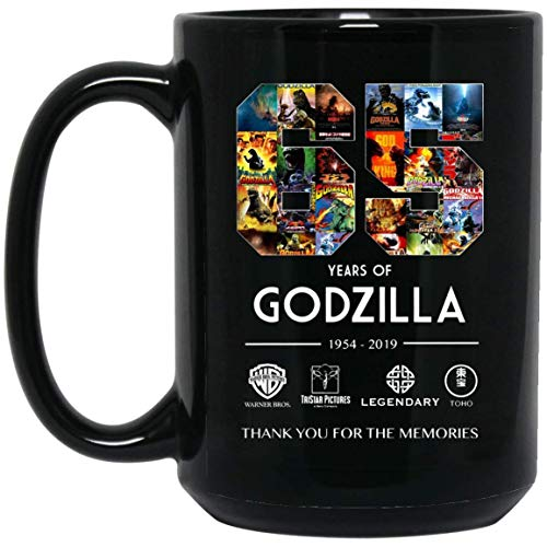 A Sincere Thank For 65 Amazing Years Of Godzilla Coffee Mug - 15Oz Black Gift For Friend Lover Father Mother Kids Sister Brother In Halloween Christmas Birthday Anniversary Valentine