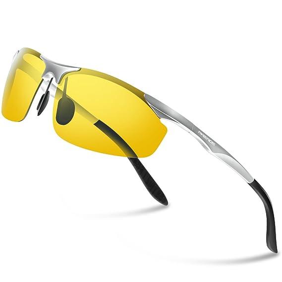 f7722f5a61db9c PAERDE Herren Sport Stil Polarisierte Sonnenbrille Metallrahmen Brille PA30  8179 (Schwarz Licht)