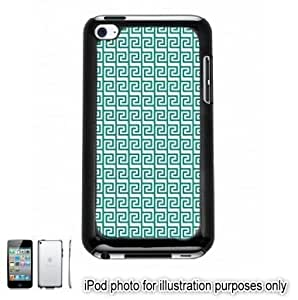 Green Tribal Aztec Mayan Pattern Apple iPod 4 Touch Hard Case Cover Shell Black 4th Generation