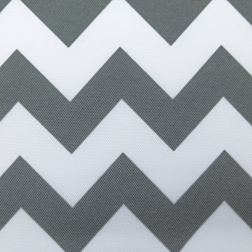 Waterproof Outdoor Chevron Canvas Grey / White 60 inch Fabric By the Yard (F.E.) (Fabric Yard Upholstery The By Chevron)