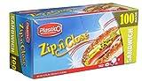 Plastico Zip 'N Close Resealable Plastic Sandwich Bags, Choose Your Own Count (100)