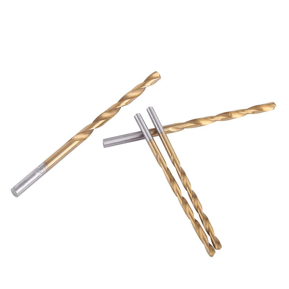 Plastics Wood 98Pcs Twist Drill Bits Asixx 98pcs Titanium Coated High Speed Steel Twist Drill Bit 1.5mm-10mm Drill Bits Straight Shank Great for Materials Such as Aluminum