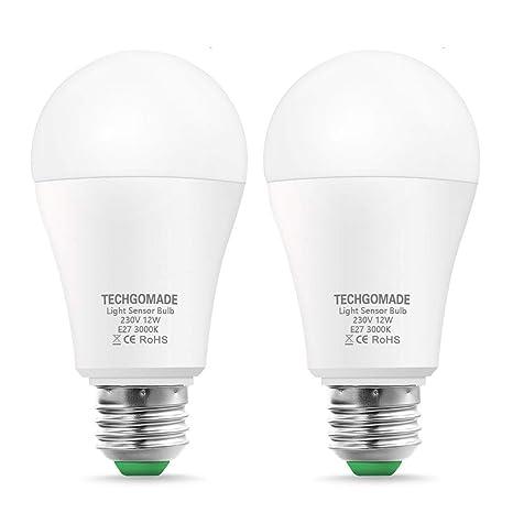 Techgomade E27 Bombillas LED de rosca Edison, 12 W, 100 W equivalente a incandescente