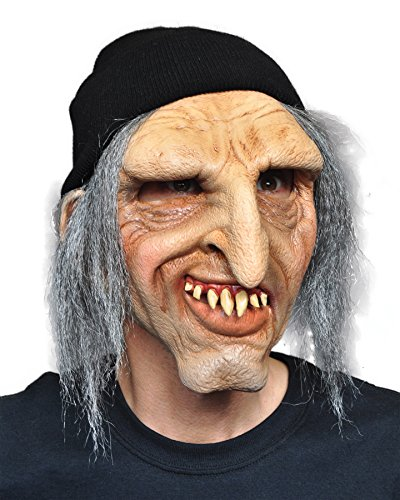 Zagone Scury Mask, Old Man with Knit Cap and Grey Hair -