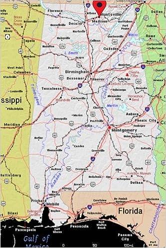 Huntsville, Alabama Pinned on a Map Journal: Take Notes ...