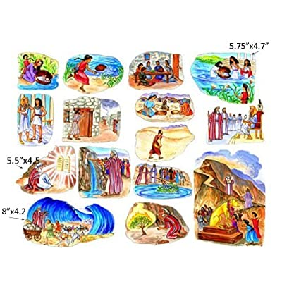 The Story of Moses Felt Figures for Flannel Board Bible Stories-precut: Toys & Games