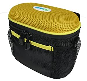 MP3 Bike Stereo Speaker and case - Yellow
