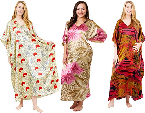 Gift Pack Caftans, 3 Best Floral Prints Caftans, One Size...
