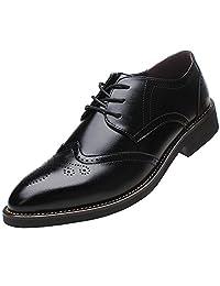 Rismart Men's Office Dress Brogue Leather Oxfords Shoes SN16856