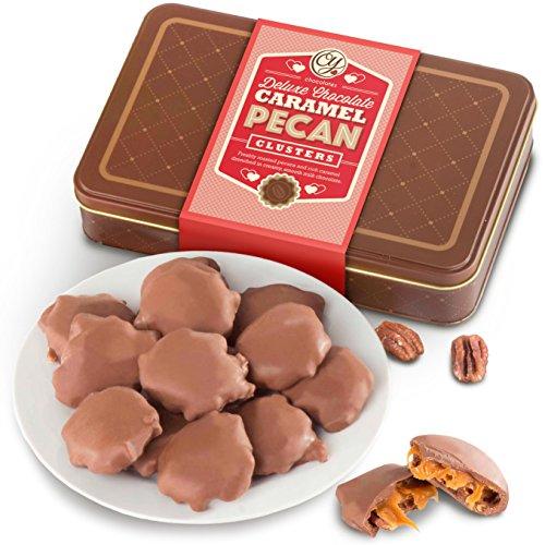 Milk Chocolate Caramel Pecan Clusters Gift Tin