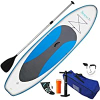 SereneLife SLSUPB10 6 Inches Thick Inflatable Stand Up Paddle Board (Marine Blue)