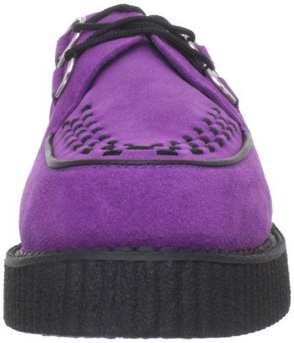T.U.K. A8280 Lo Mondo - Zapatos con cordones de ante Unisex adulto Morado (Purple/Black)