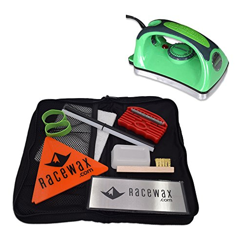 RaceWax Quick Tune Ski Snowboard Wax Tuning Kit with Iron