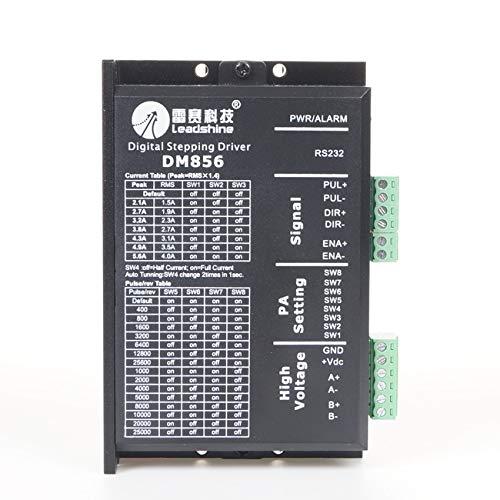 Leadshine DM856 CNC Driver Digital Hybrid Stepper Drive 80VDC/5.6A for Laser Cutters, Laser Marker, X-Y Tables, Labeling Machine