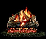 ''R.H. Peterson CHDG4-2-30 - 30'''' Charred Oak Vented Gas Logs with Burner for Natural Gas Fireplaces.''
