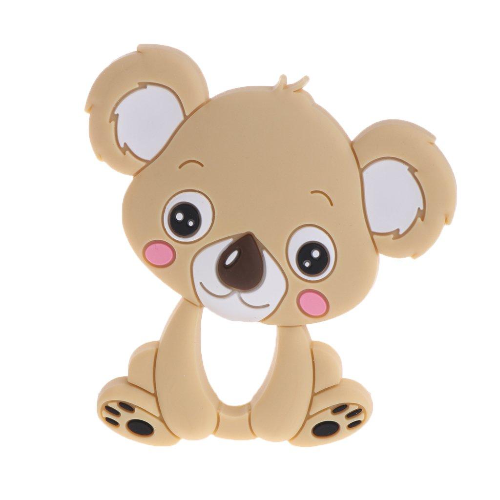 exing beb/é Mordedor silicona nette Koala infantil Enfermedades juguete Collar reci/én nacidos kauen Cuidado rosa