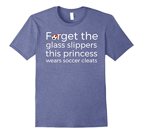 Mens Forget Glass Slippers This Princess Wears Soccer Cleats Tee 2XL Heather (My Glass Slipper Shoes)