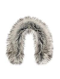 Futrzane Trim Hood Faux Fake Fur Hood Winter for Jacket Ski Collar Wrap Shawl (L, Siberian Silver)