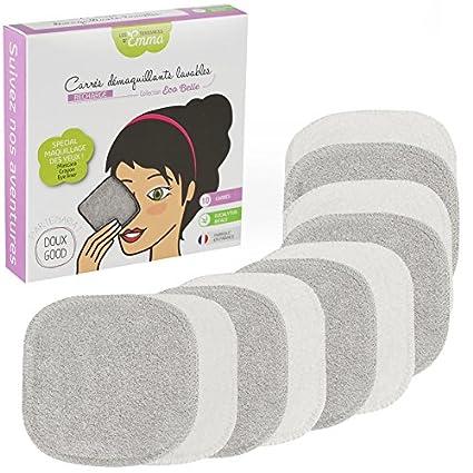 Les Tendances de Emma Lote de recarga con 10 toallitas desmaquillantes cuadradas, especial ojos,
