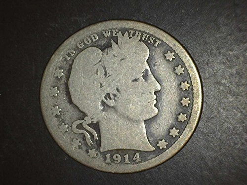 1914 S Barber Quarter Good