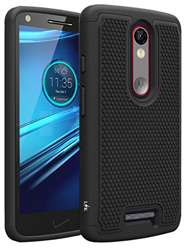 Price comparison product image Droid Turbo 2 Case,  LK [Shock Absorption] Hybrid Dual Layer Armor Defender Protective Case Cover for Verizon Motorola Droid Turbo 2 (Black)