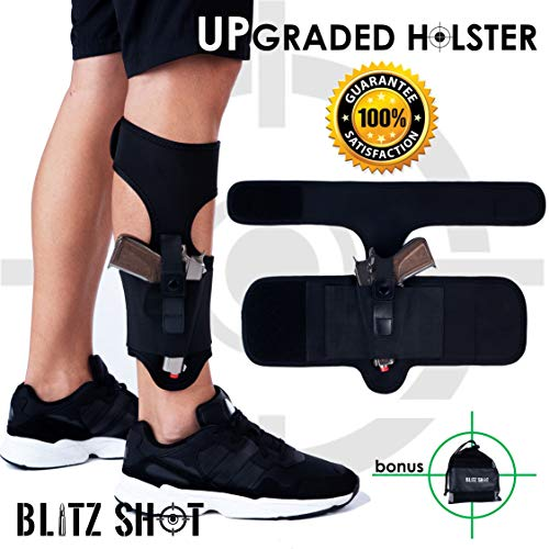 Ankle Holster for Concealed Carry Universal Ankle Holster 2xStronger Velcro for Men and Women  Ankle Holster for Glock 43 42 36 26 19, Smith&Wesson M&P Shield Bodyguard, Ruger LCP LC9, Sig Sauer