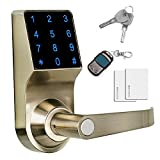 IBITION Touchscreen Keyless Password Door Lock, Unlock with Remote Control/Password/Card/Metal Key, Perfect for Office & Home