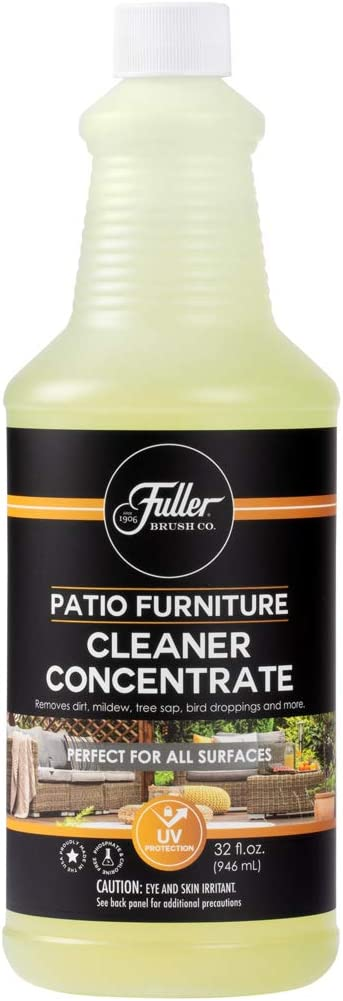 Fuller Brush Patio & Outdoor Furniture Cleaner Concentrate - Removes Dirt, Mildew, Tree Sap, Bird Droppings, Food and More - 32 Fl. Oz. - Super Concentrated to Make Eight 16 oz. Pump Spray Bottles