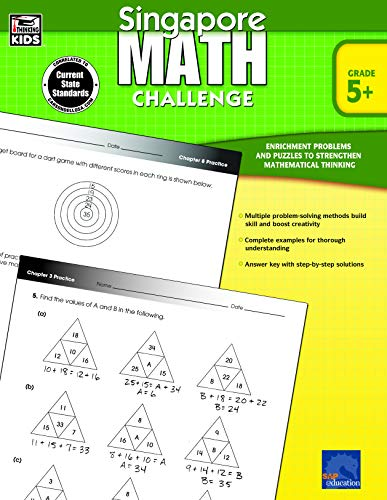 (Singapore Math - Challenge Workbook for 5th, 6th, 7th, 8th Grade Math, Paperback, Ages 10-14 with Answer Key)