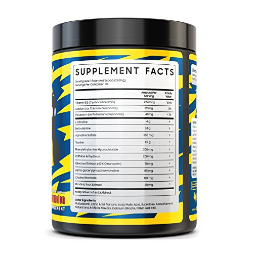 Myth Journey Pre Workout Powder for Men - Energy