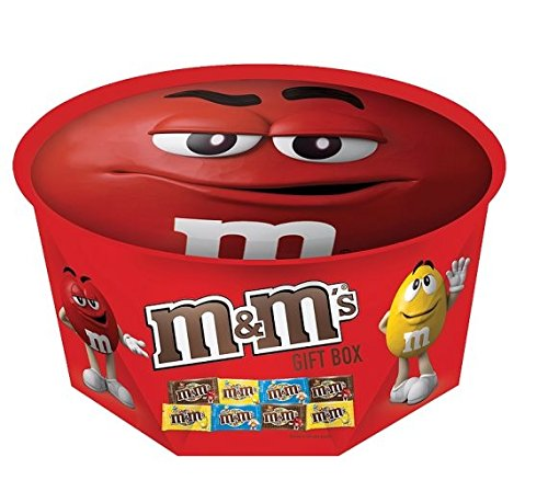 M&M's Red Round Gift Box: Amazon.co.uk: Grocery