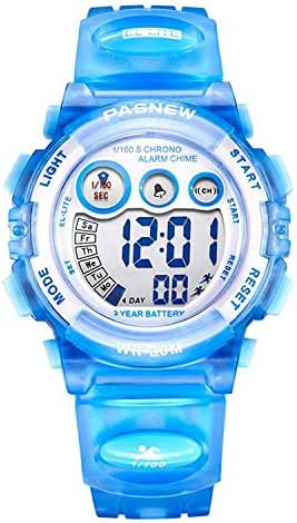 Dayllon Kids Waterproof Sports Wrist Watch Boys Girls LED Digital Quartz Wacthes for 5-12 Years Old Children(sky-blue) #Pdyl-4