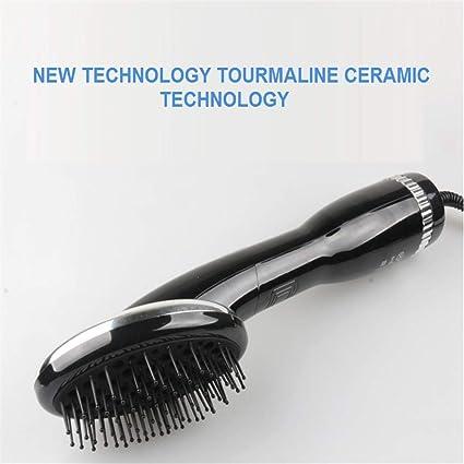 Cepillo para alisado de cabello Cepillo alisador iónico 2 en 1 con función de anti escaldado