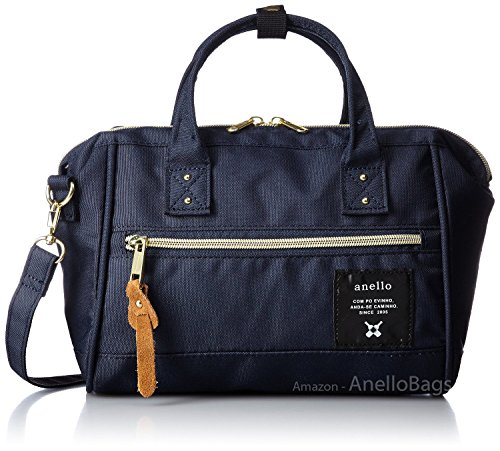 - Japan Anello MINI SMALL NAVY 2 Way Unisex Shoulder Bag Poly Canvas Waterproof