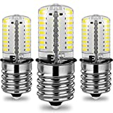 3-Pack E17 Dimmable LED Bulb, 4W 6000K Daylight White, for Microwave oven, Freezer, under-microwave stove light