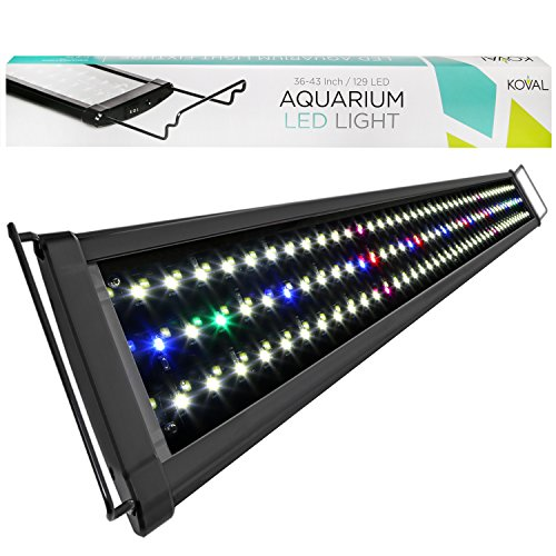 Koval 129 LED Aquarium Light Hood with Extendable Brackets
