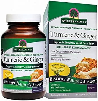 Nature's Answer Extracaps Turmeric and Ginger Vegetarian Capsules, 90-Count